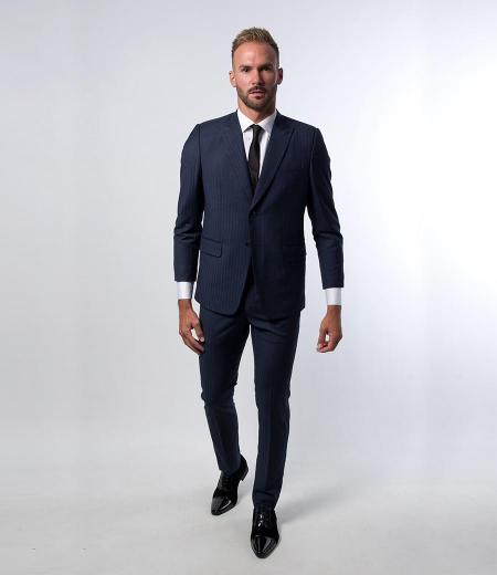 Costume Extra Slim Bleu Marine tissus Haute de gamme