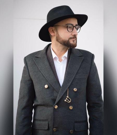 Manteau en laine et cachemir style parisien 0819