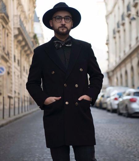Manteau en laine et cachemir style ROSHPARIS 0719